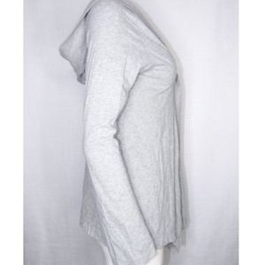 Hard Tail Sweaters - Hard Tail Hooded Cardigan Gray Small